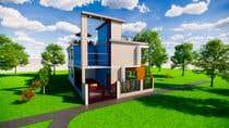 3D Modern Elevation of house and suggest any improvement in map için 3D Modelling14 No.lu Yarışma Girdisi