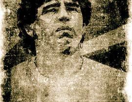 #11 for Diego maradona graffiti canvas art by znipi