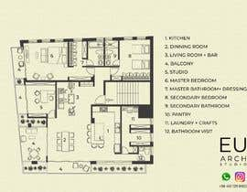 #34 untuk Design the architecture of home (190mq) oleh euarchitecturest