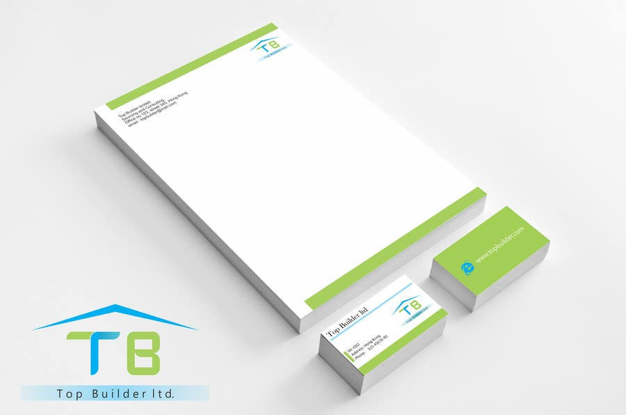 Konkurrenceindlæg #                                        17                                      for                                         Design some Stationery and Business Cards for Top Builder Limited