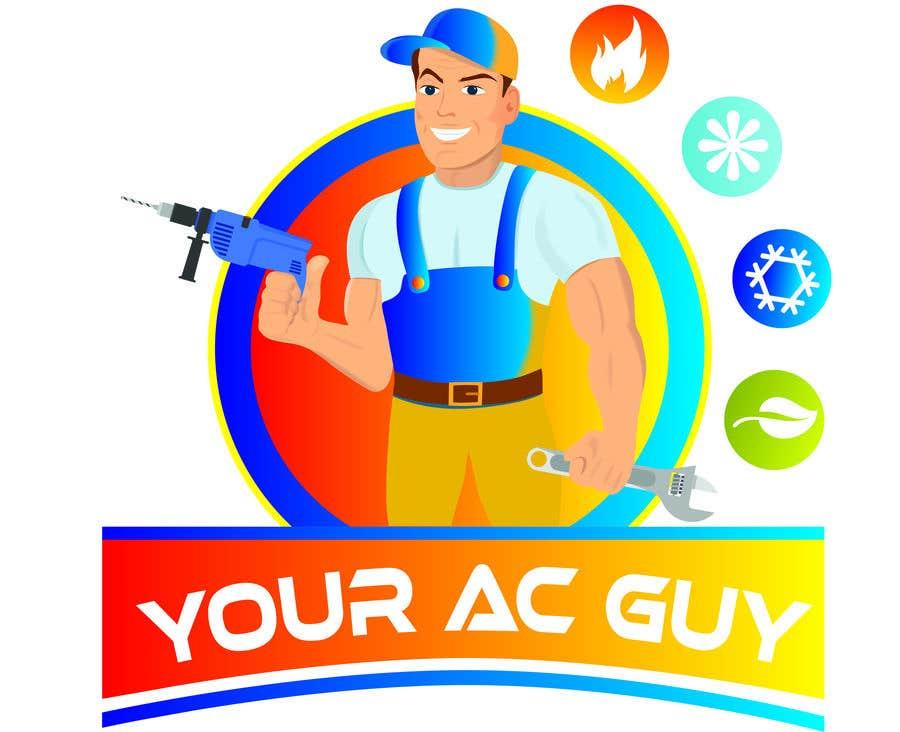 Bài tham dự cuộc thi #                                        28                                      cho                                         Air conditioner company logo (Your AC GUY)