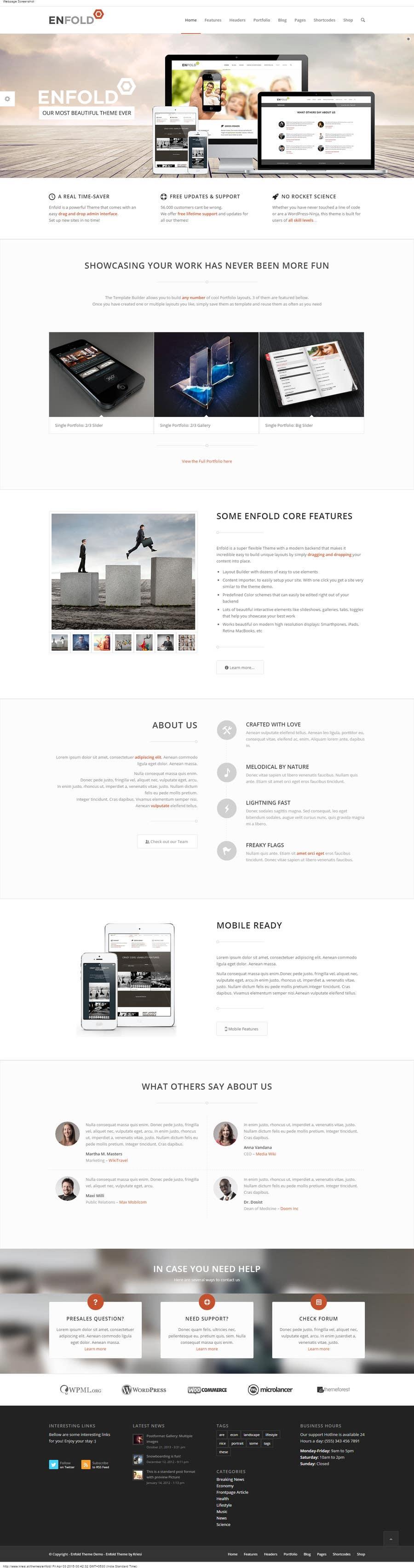 Konkurrenceindlæg #5 for Design a website Mockup for wordpress
