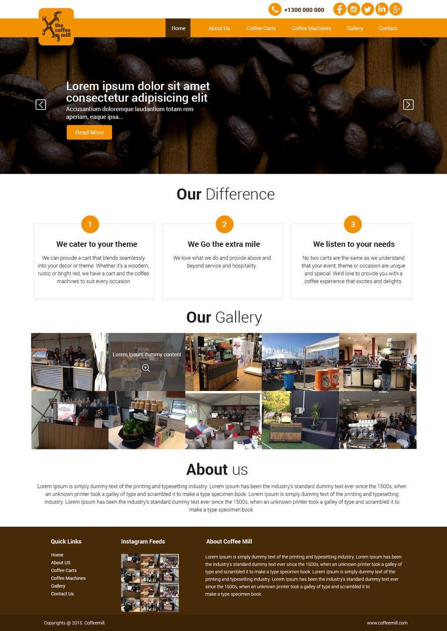 Inscrição nº 15 do Concurso para Design a Website Mockup for a Mobile Coffee Business