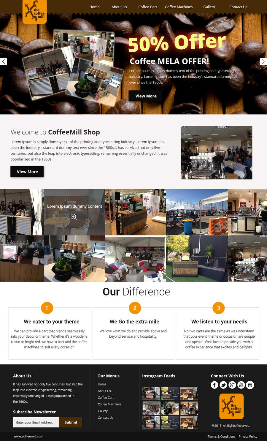 Contest Entry #17 for Design a Website Mockup for a Mobile Coffee Business