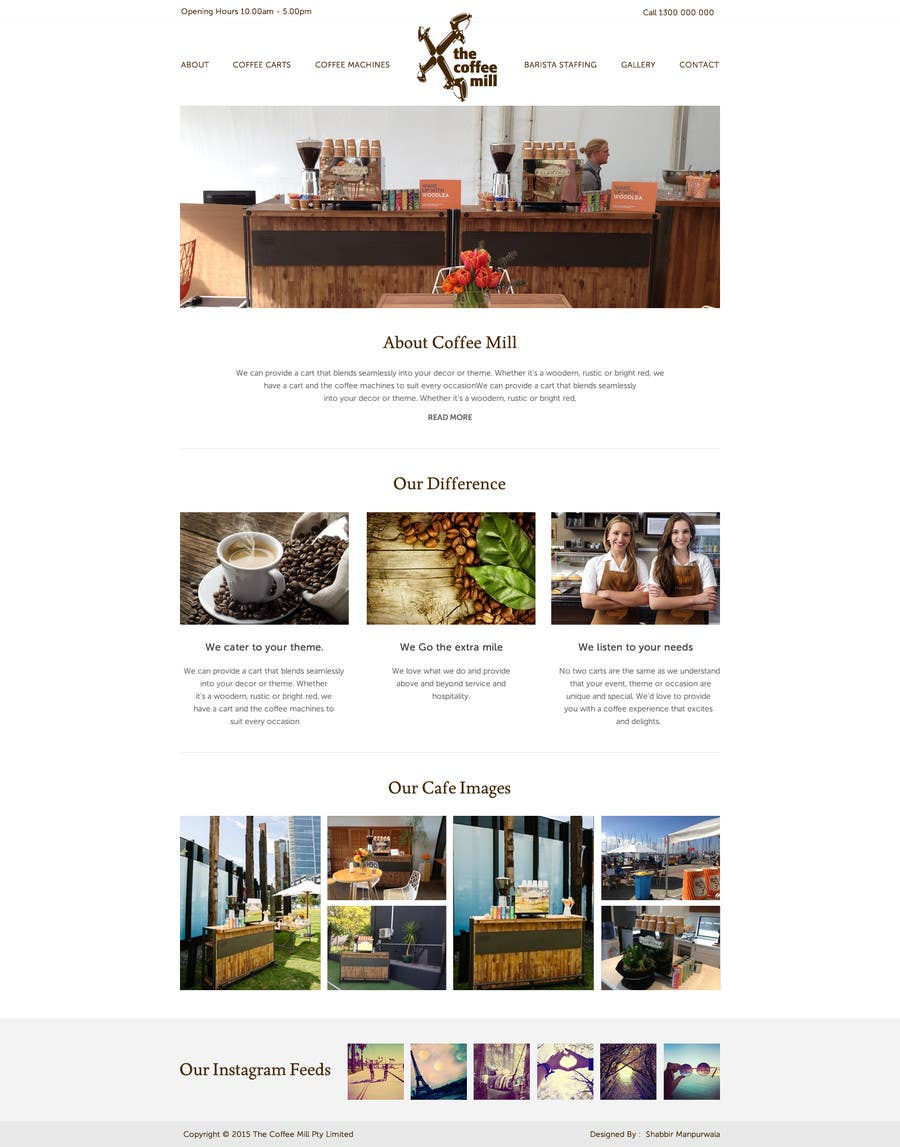 Contest Entry #4 for Design a Website Mockup for a Mobile Coffee Business
