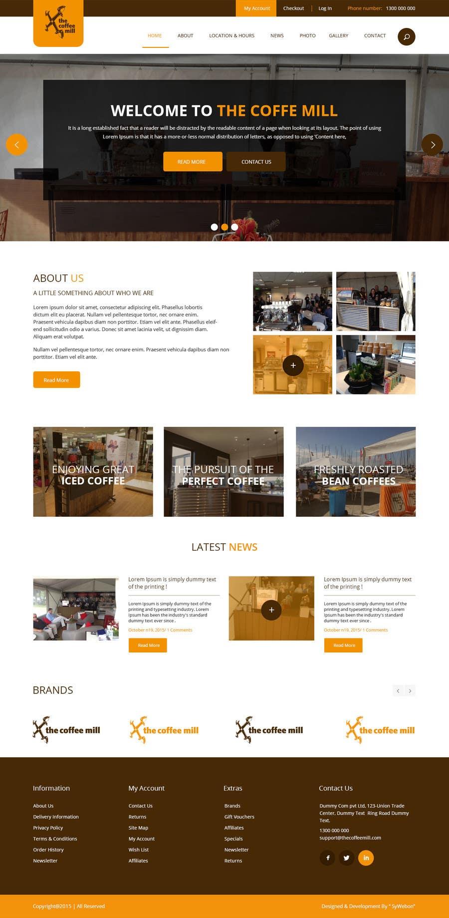 Konkurrenceindlæg #                                        19                                      for                                         Design a Website Mockup for a Mobile Coffee Business