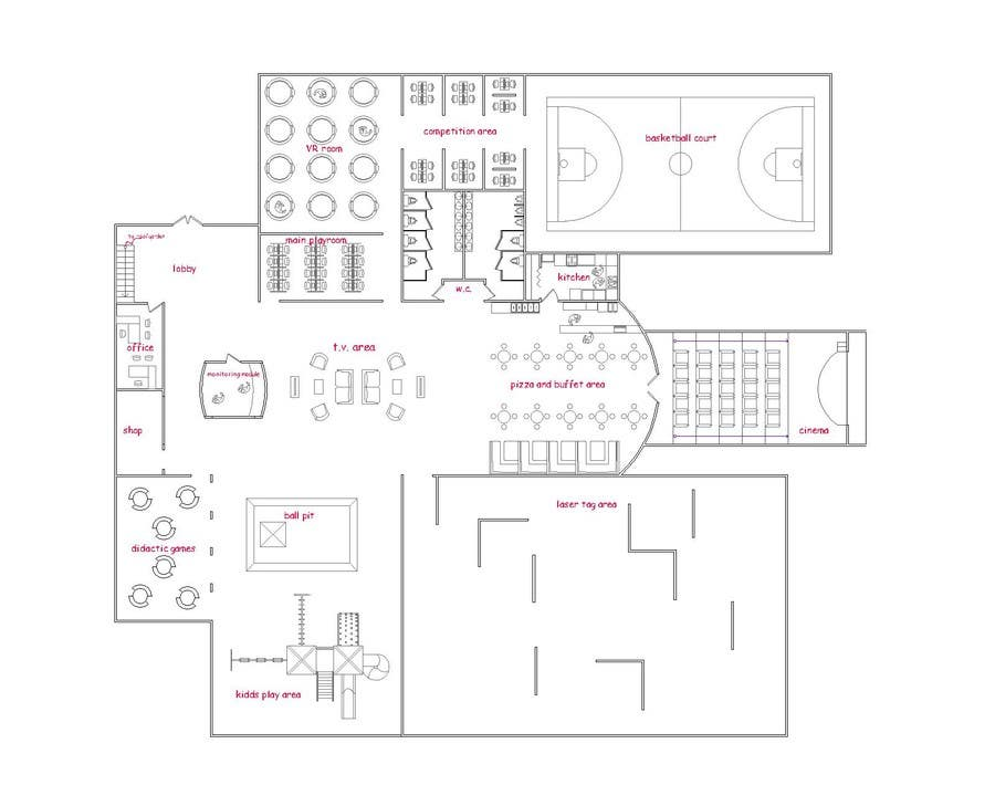 Contest Entry #14 for Floor plan/interior ideas for gaming business