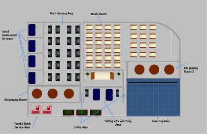 Nro 1 kilpailuun Floor plan/interior ideas for gaming business käyttäjältä cuongeke1