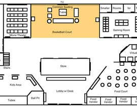#12 for Floor plan/interior ideas for gaming business by knomara