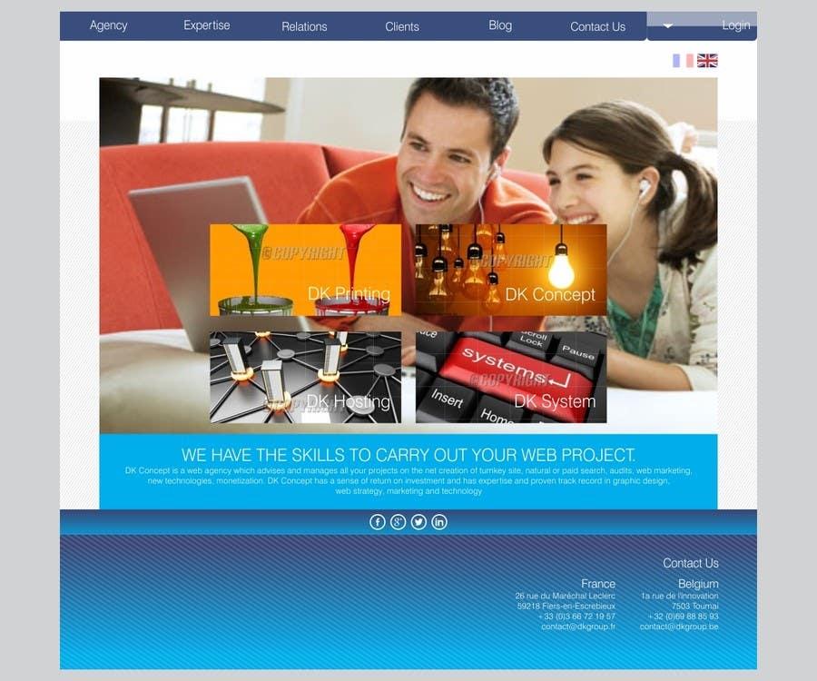 Kilpailutyö #30 kilpailussa Website Design for company group