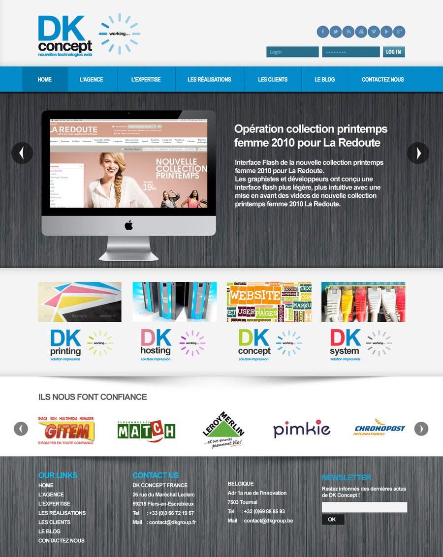 Kilpailutyö #33 kilpailussa Website Design for company group