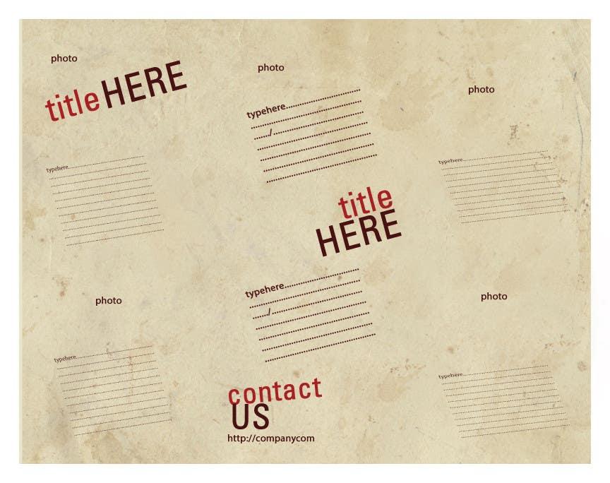 Participación en el concurso Nro.                                        2                                      para                                         Design a ROll Fold Brochure