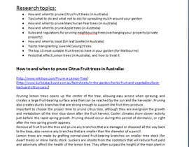 Nro 5 kilpailuun Do some Research on a list of Gardening and Tree Pruning topics for Australian conditions käyttäjältä gabortoth05