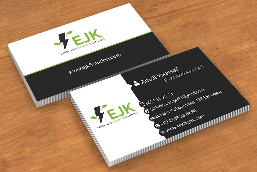Entry 1 by amzilyoussef18 for deign a logo and business card for contest entry 1 for deign a logo and business card for ejk renewable energy solutions reheart