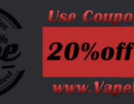 #5 para Design 350 x 100 Banner for Vape E-Cig Juice website por onlinesathi