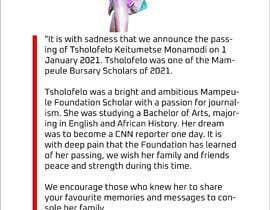 #27 pentru Tribute page for someone de către arksujan9