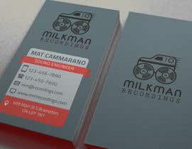 #23 untuk Create a logo and business card design for Milkman Recordings. oleh MaxKh87