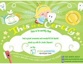 #19 untuk Illustrate Something for Kids Dental Certificate oleh madiworks
