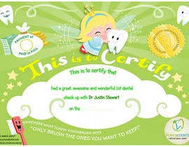 #21 for Illustrate Something for Kids Dental Certificate by madiworks