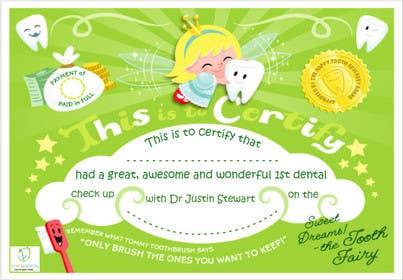 Nro 3 kilpailuun Illustrate Something for Kids Dental Certificate käyttäjältä mogado