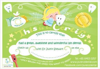 Nro 6 kilpailuun Illustrate Something for Kids Dental Certificate käyttäjältä mogado