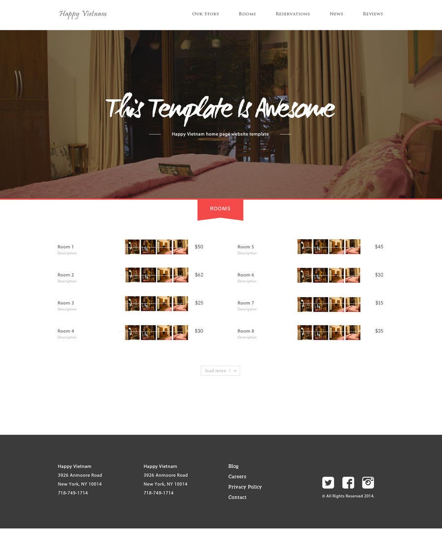 Contest Entry #                                        7                                      for                                         Simple web page for our villa