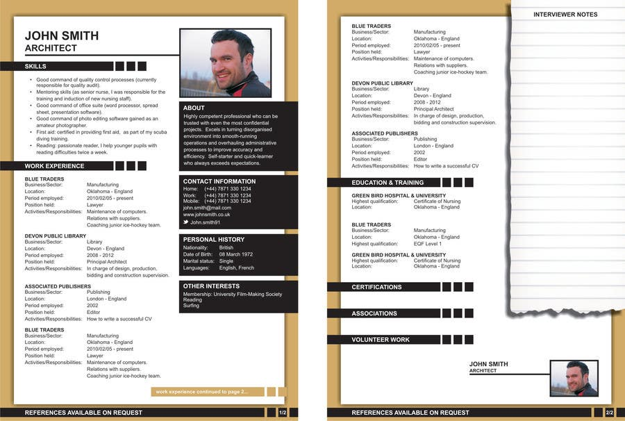Contest Entry #3 for I need some Graphic Design for My Resume