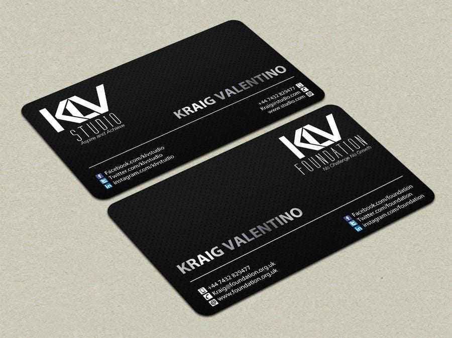 Konkurrenceindlæg #                                        191                                      for                                         Design some Business Cards for KLV Studio