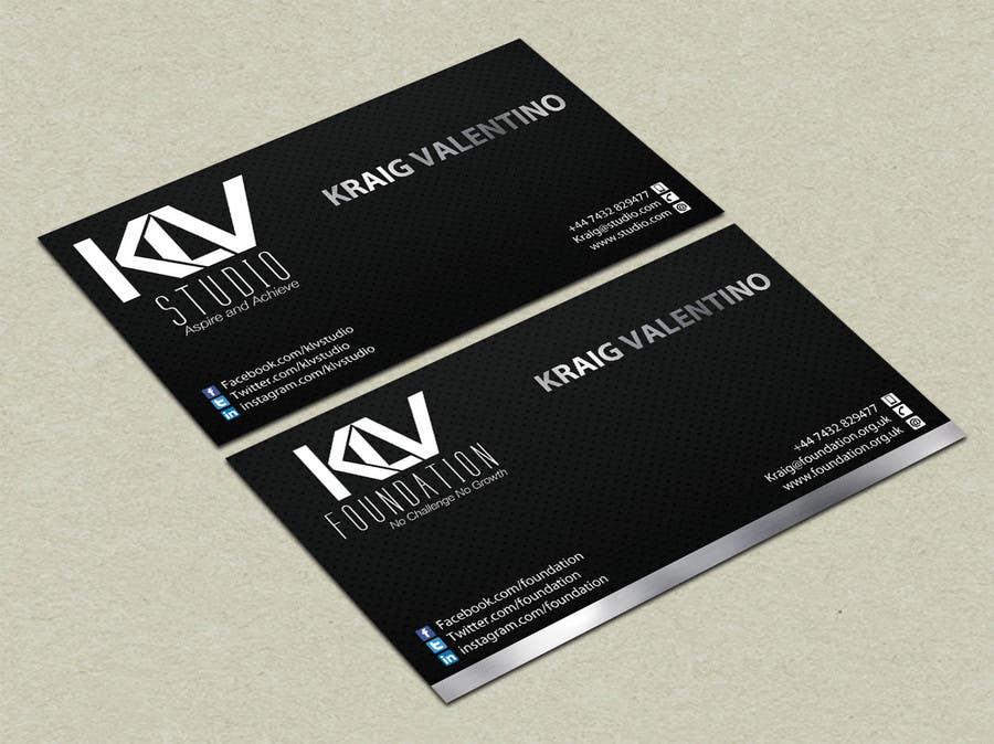 Konkurrenceindlæg #                                        195                                      for                                         Design some Business Cards for KLV Studio