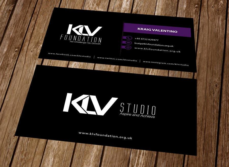 Konkurrenceindlæg #                                        42                                      for                                         Design some Business Cards for KLV Studio