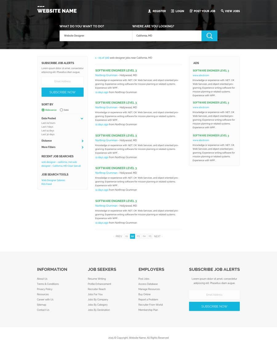 Konkurrenceindlæg #41 for Design a Website Mockup for a Job Search Engine
