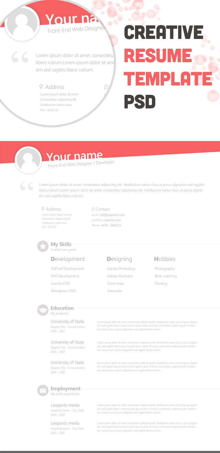 #8 for Premium Quality Resume Design (PSD) - I'LL SELECT MULTIPLE WINNERS! by thewolfmenrock