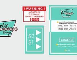 #7 for Design a sticker for a change machine by designernasah