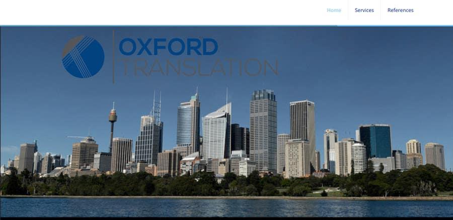 Contest Entry #                                        1                                      for                                         Design a Website Mockup for Oxford Translation