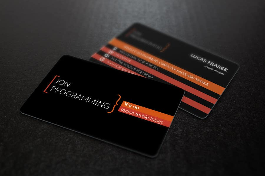 Contest Entry #                                        11                                      for                                         Design some Business Cards for Ion Programming