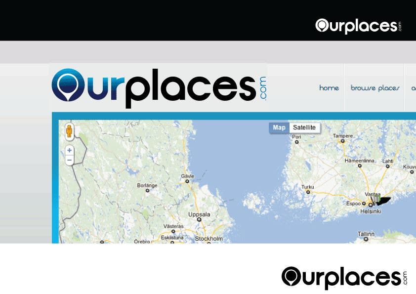 Penyertaan Peraduan #211 untuk Logo Customizing for Web startup. Ourplaces Inc.