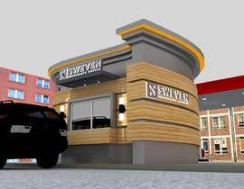 #85 para Design 3d drive-thru coffeeshop por Creative3dArtist