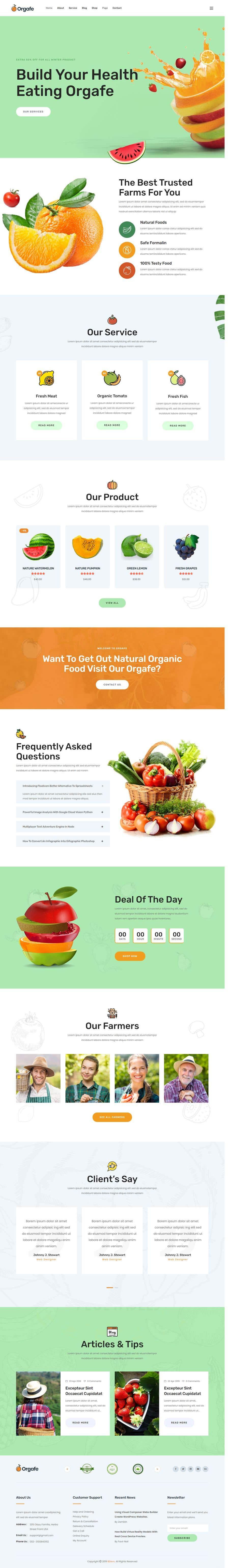 Penyertaan Peraduan #                                        38                                      untuk                                         Home page for online bio organic shop