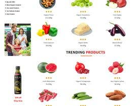 #23 untuk Home page for online bio organic shop oleh lokmantex