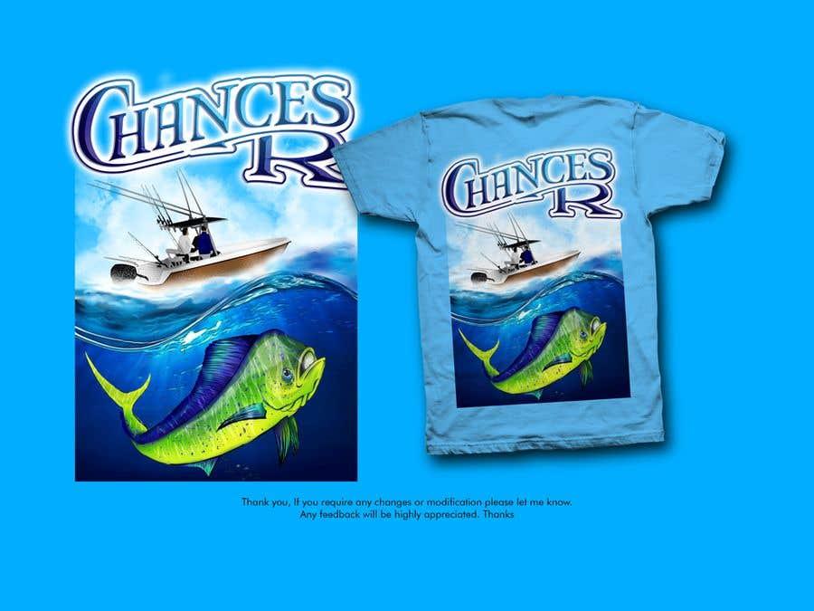 Kilpailutyö #                                        64                                      kilpailussa                                         Boat + Fishing Shirt Design