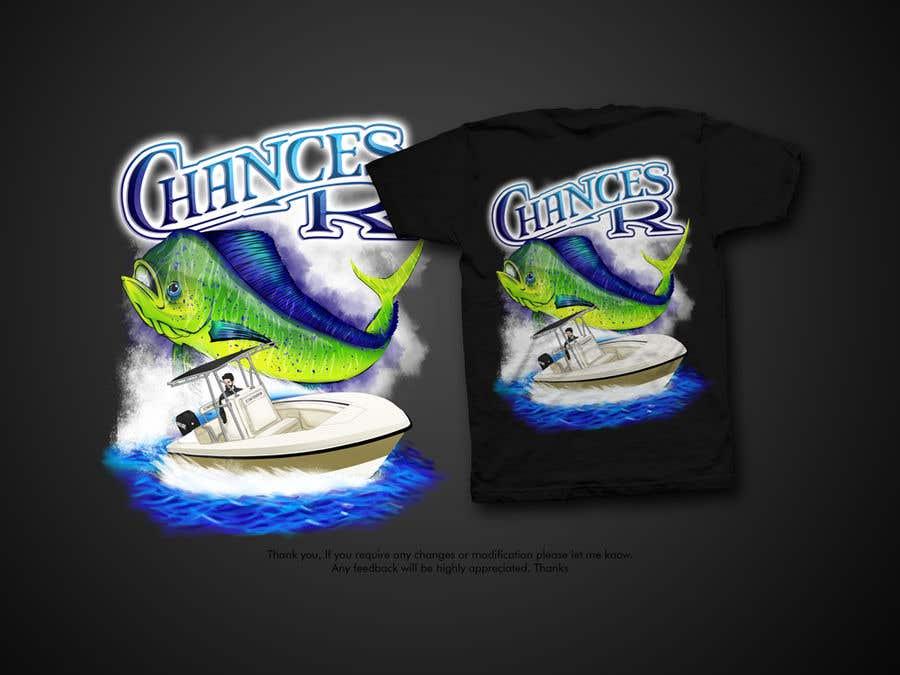 Kilpailutyö #                                        105                                      kilpailussa                                         Boat + Fishing Shirt Design