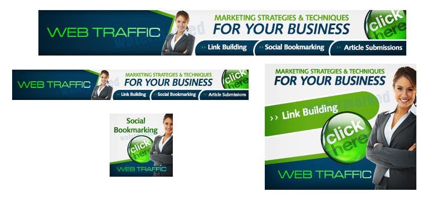 """Konkurrenceindlæg #4 for Banner Ad Design for """"www.  webtraffic.  co"""""""
