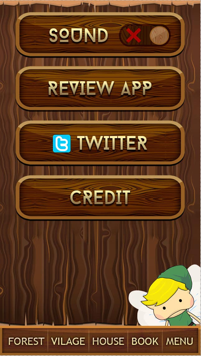 Contest Entry #                                        10                                      for                                         Forest Theme GameUI Design ( Only one screen )