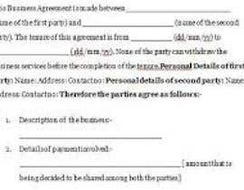 #4 for business agreement af jubaidagulsanara