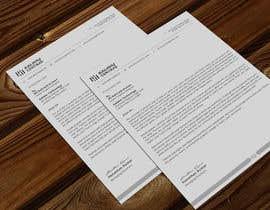 Nro 185 kilpailuun A4 letterhead design käyttäjältä atikchowdhury55