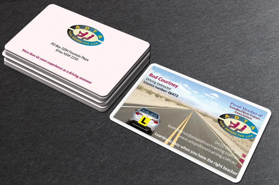 Contest Entry 71 For Design Some Business Cards Adept Driving School