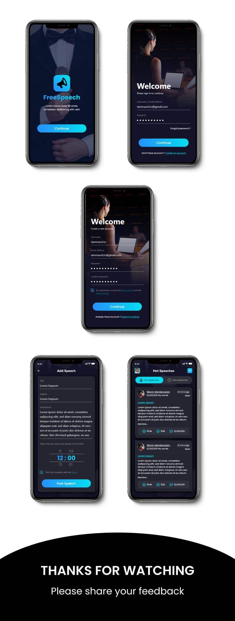 Contest Entry #                                        36                                      for                                         Design 4 mobile app screens