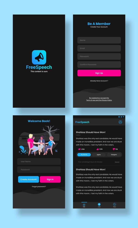 Contest Entry #                                        22                                      for                                         Design 4 mobile app screens