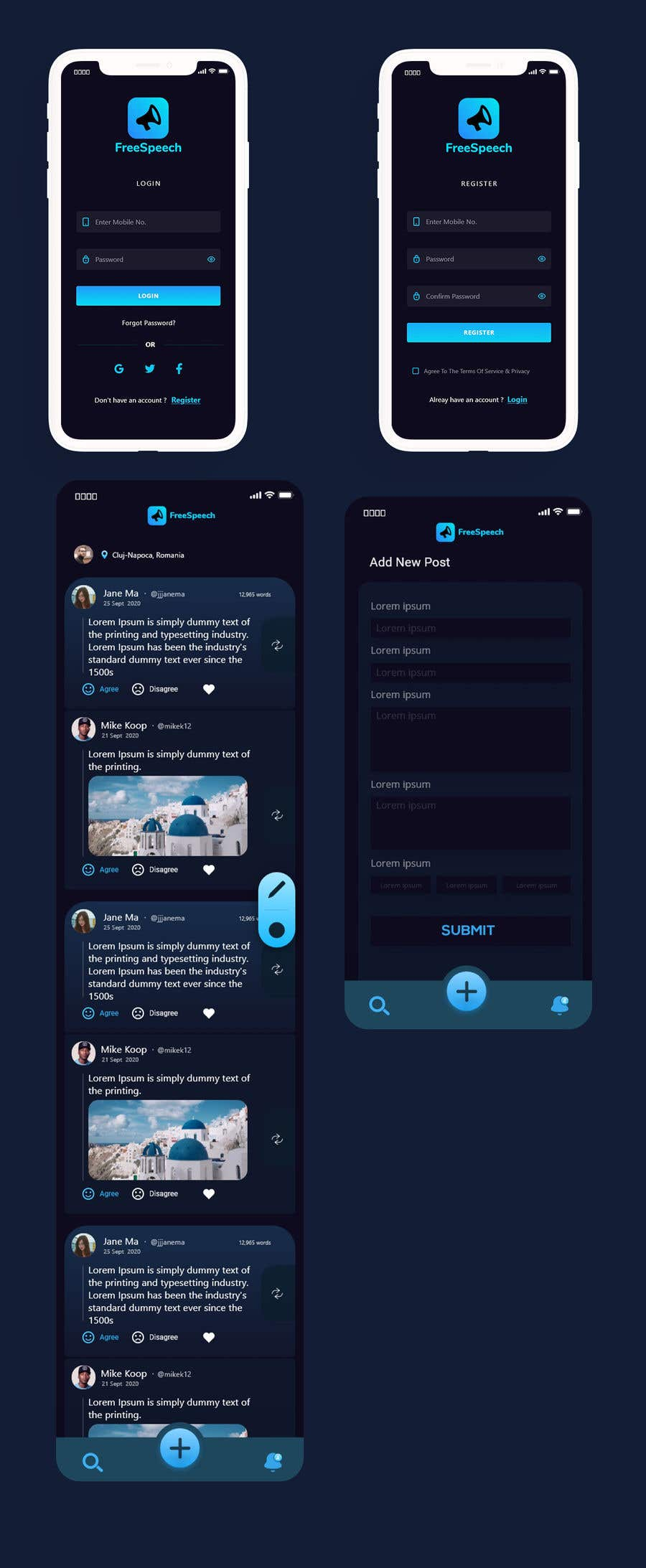 Contest Entry #                                        31                                      for                                         Design 4 mobile app screens