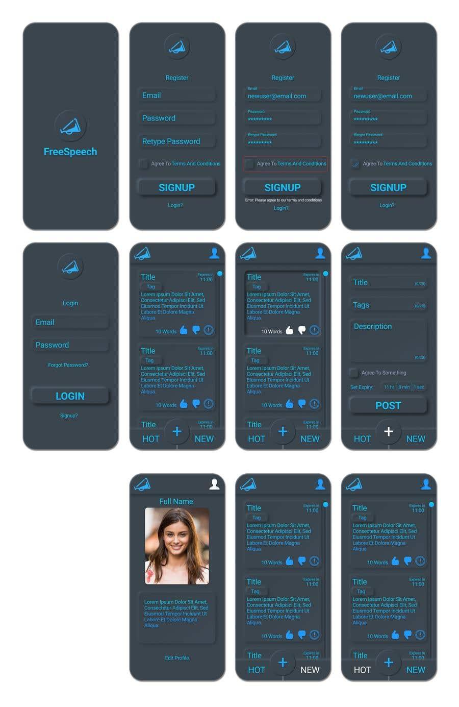 Contest Entry #                                        14                                      for                                         Design 4 mobile app screens